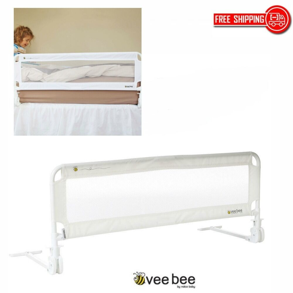 folding toddler bed guard safety rail frame portable infant bedguard kids cot 9315517089495 ebay. Black Bedroom Furniture Sets. Home Design Ideas