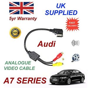 For AUDI A7 Series 2011+ AMI MMI  4F0051510N RCA PHONO Audio Video Cable