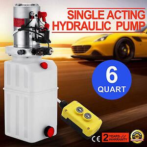 6l pompe hydraulique groupe 12 v volts lectrique unit de puissance levage ebay. Black Bedroom Furniture Sets. Home Design Ideas