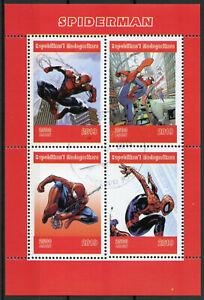 Madagascar-2019-CTO-Spider-Man-Spiderman-4v-M-S-Marvel-Comics-Superheroes-Stamps
