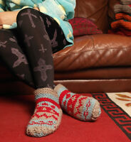 Warm Indoor Woollen Shoes Socks Handmade