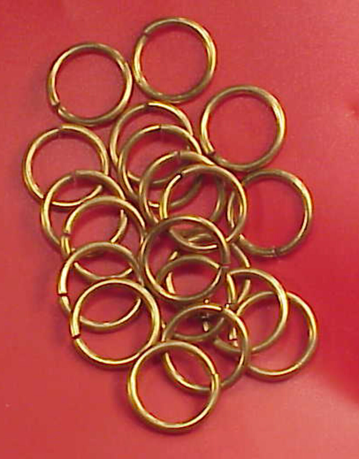 Vintage Solid Pewter 15//16 inch Jump Rings 4 Chains 20 Pieces Altered Art Crafts