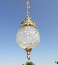 15117/ Vintage Mid Century Hollywood Regency Hanging Light FIxture / Swag Lamp