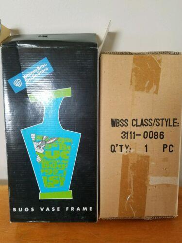 Warner Brothers Studio Store Vintage 1998 Bugs Bunny Porcelain Vase Frame New