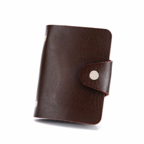 Wallet Vintage PU Leather Paper Money Credit Card Clip Case Bag Holder Business