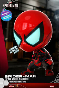 Hot-Toys-Marvel-Cosbaby-COSB772-Spider-man-Armor-MK-Suit-Bobble-Head-Model-Toys