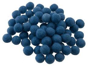 25 Perlen Bälle Von Filz Filz Wolle Natürlich Ø= 1.3 CM Nepal Blau 206