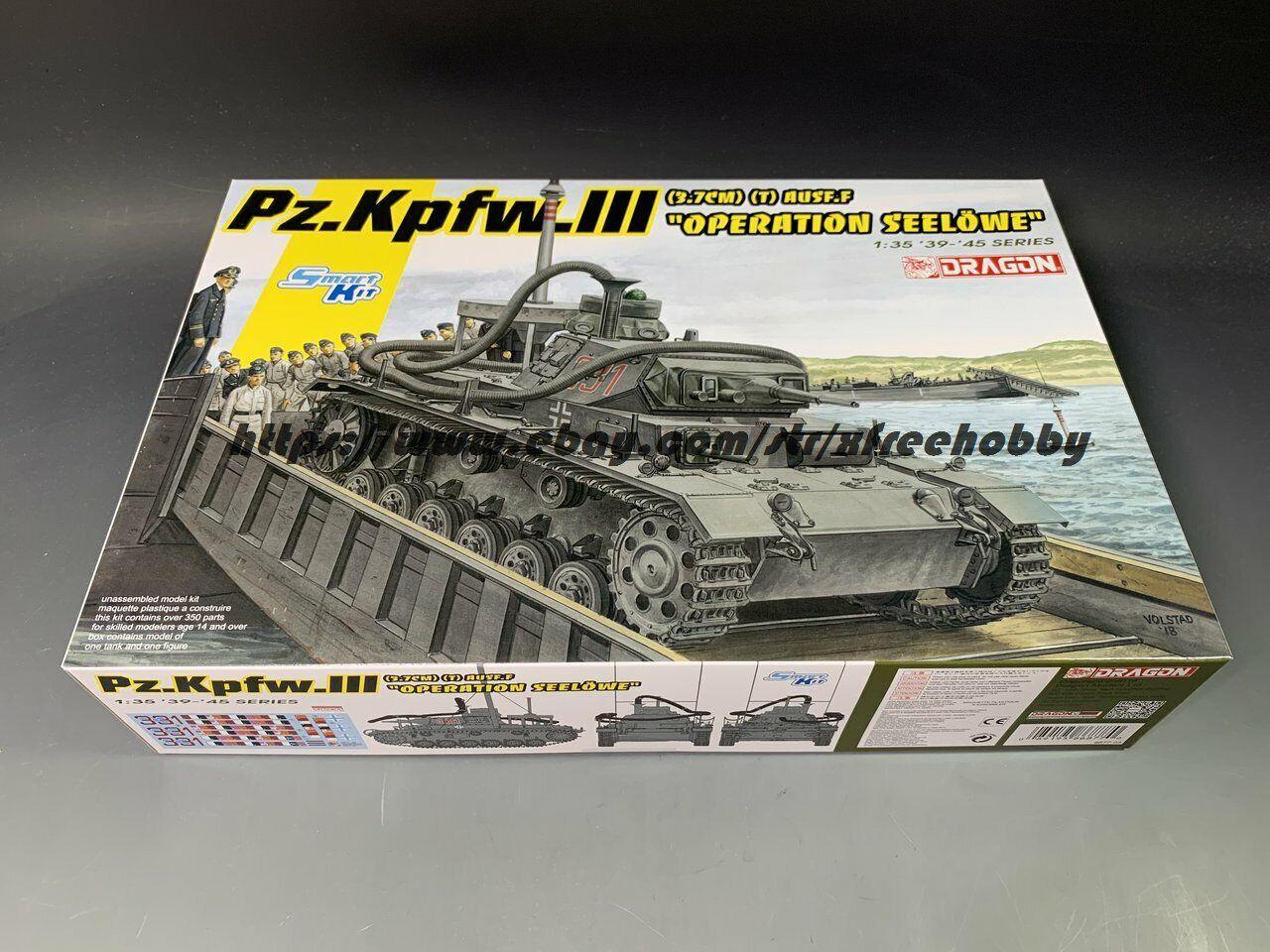 """3,7cm t Dragon 1//35 Pz.Kpfw.III Ausf.F /""""Operation Seelowe/"""" # 6877"""