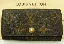 Auth Louis Vuitton Multicles 4 Key Case Monogram M62631 Brown