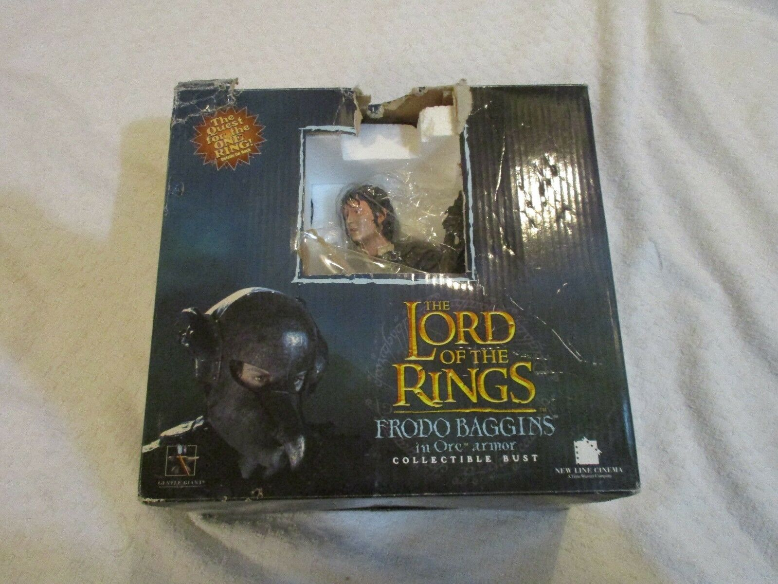 Used Gentle Giant Lord of the Rings Frodo Baggins Orc Armor Collectible Bust