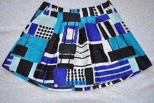 730f846113 Lane Bryant Plus Size Circle Skirt Box Pleat Satin Blue Black Square ...