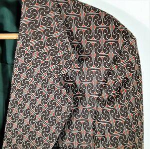 L Vintage 60s 70s Sears Disco Strick Freizeit Jacke Blazer Mantel Psychedelic MOD 42