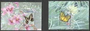 Z0191 LESOTHO BUTTERFLIES FLORA & FAUNA 2BL MNH