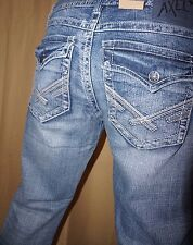NEW TAGS Men's Axel Vintage Boot Denim Buckle Distressed Jeans 38x32