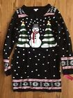 NWT Snowman Christmas Tree Xmas UGLY Sweater Dress Holiday Party by Xhilaration