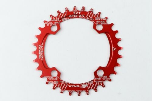 SNAIL BCD 96mm Bike Narrow Wide Round Oval Chainring Ring 32T-36T Tooth Chain UK