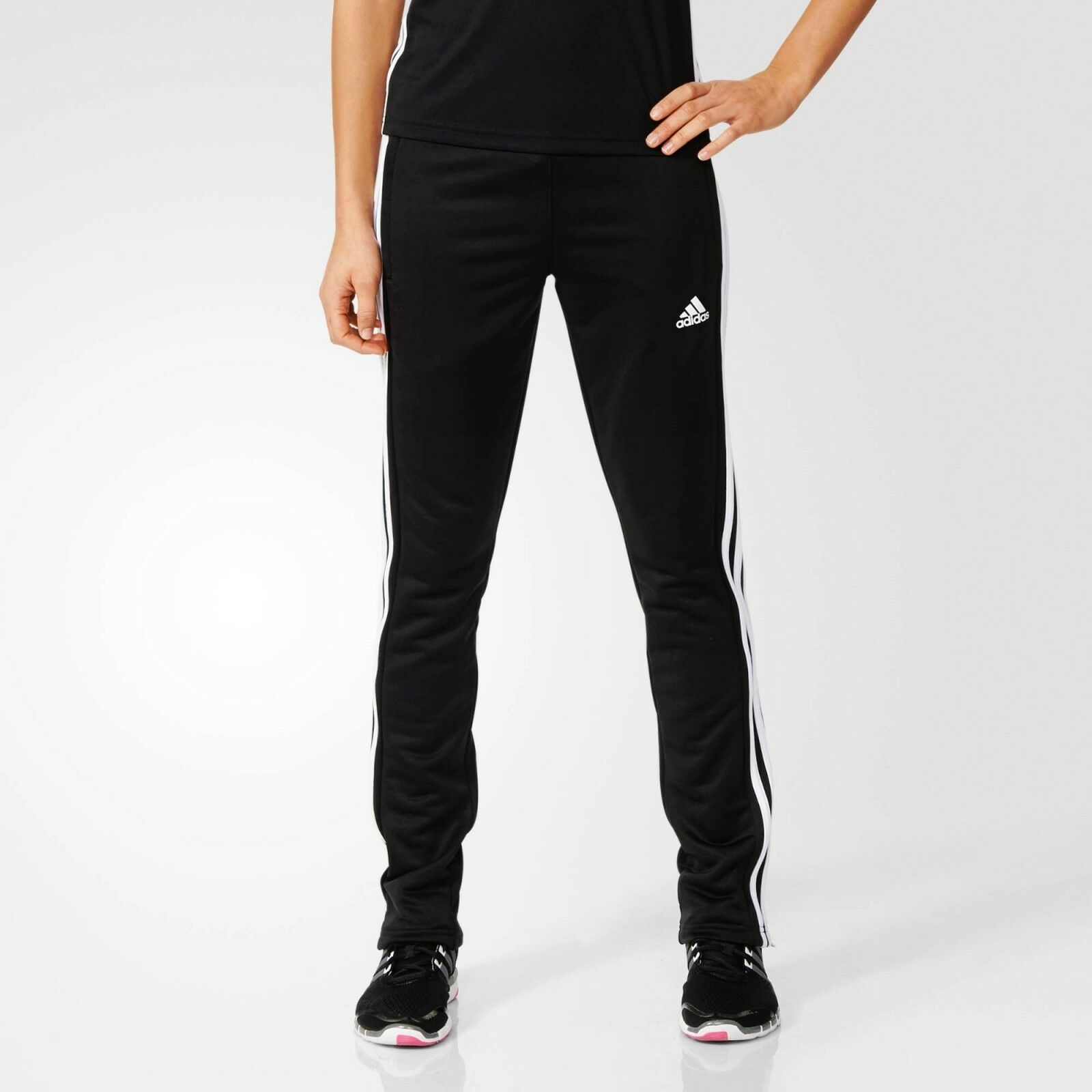 2d6ce977 adidas Ladies T16 CLIMALITE Sweat Pants Womens Sports Running Tracksuit  Bottoms   eBay