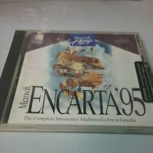 Microsoft Encarta '95 1995 Edition Disc With Case And Booklet Included -vintage