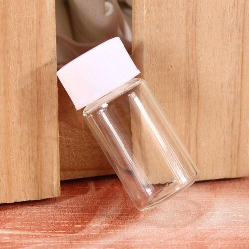3 ml mini bouteilles flacons en verre échantillon clair bouchon à vis Stash Jar Potion 16PCS Blanc