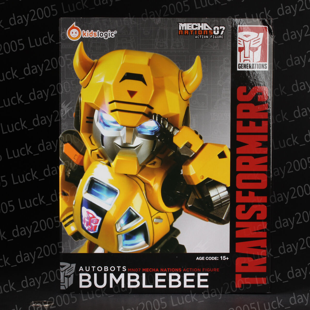 Kids Logic Transformers Mecha Nation Autobots Bumblebee LED Figure