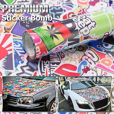 *JDM Star Stickerbomb Graffiti Cartoon Vinyl Sticker Car Wrap Decal Sheet #ST