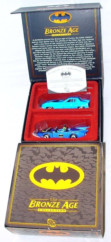CORGI FAO noir 1 43 DC Comics Batman Batmobile Bronze Age 2 Voiture SET Comme neuf in box RARE
