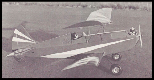 Red Baron Vintage Sport Biplane Plans,Templates and Instructions 42ws