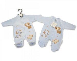 651723ffe BNWT Tiny baby Premature Preemie little puppy velour sleepsuit 3-5 ...