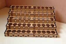 War games And Modelling Paint Rack/Stand Holds 50 Paints & 16 Brushes.
