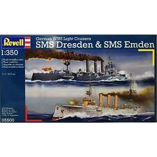 Revell Germany German WWI Light Cruisers SMS Dresden & SMS Emden model kit 1/350
