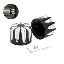 Pair Front thin Cut Axle Nut Cover Fit for Harley Electra Street Road Glide