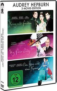 DVD-AUDREY-HEPBURN-3-Movie-Edition-3-DVDs-Gregory-Peck-Henry-Fonda-NEU