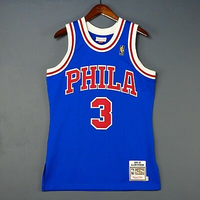 100/% Authentic Mitchell /& Ness Allen Iverson Sixers NBA Jersey Size 44 L Large
