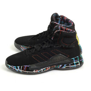 b20ffd6159 Image is loading Adidas-Pro-Bounce-Madness-2019-Black-Active-Red-