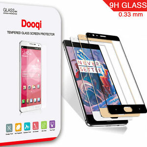 Dooqi Premium Full Cover Tempered Glass Screen Protector for OnePlus 3 / 3T