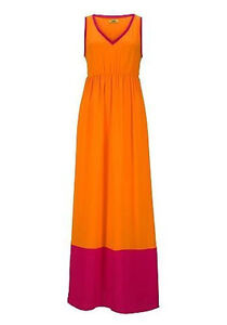 Kleid orange lila