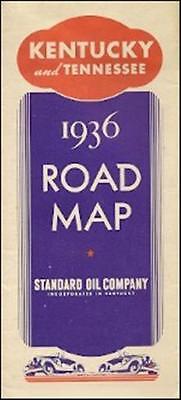 1936 STANDARD OIL Road Map TENNESSEE KENTUCKY Pictorial Guide Bluegr on kentucky nashville map, kentucky mo map, kentucky border, kentucky dc map, kentucky ga map, kentucky state map, kentucky wv map, kentucy tennesse map, kentucky tennessee, kentucky co map,