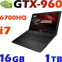 Asus Rog Gl552vw Quad I7-6700hq Gtx960 16g 1tb Bluray 15.6full-hd Gaming Laptop