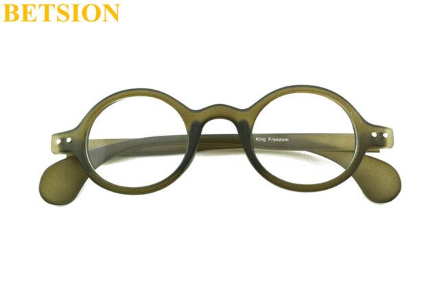 Vintage Small Round Green Eyeglass Frames Full Rim Glasses ...
