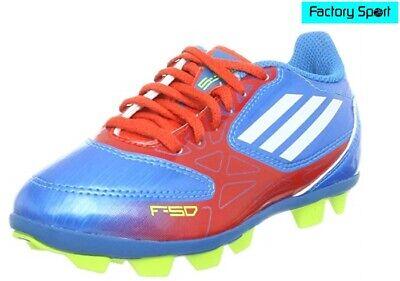 principal tablero Sospechar  Detalles de Adidas F5 TRX HG azul y rojo botas de fútbol para hombre