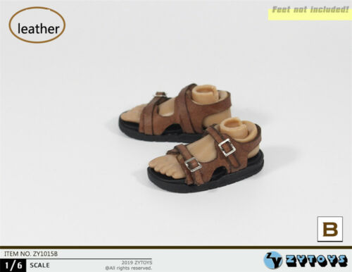 """1//6 Leather Sandals For 12/"""" Hot Toys TBLeague Hot Toys Male Figure SHIP FROM USA"""