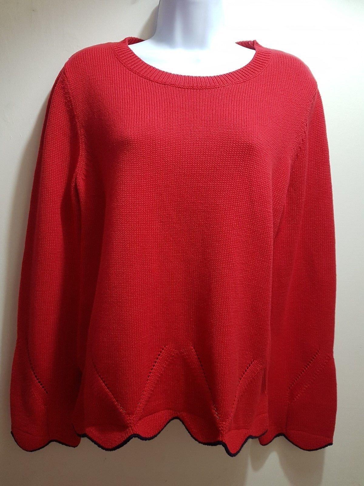 Cynthia Rowley Red Knitwear jumper size L