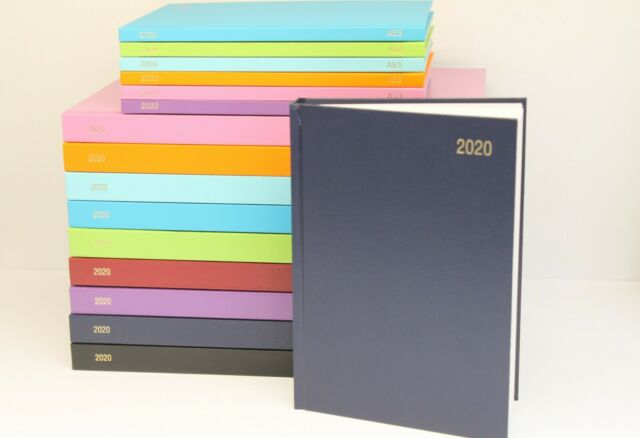 2020 A4//A5 Day a Page Diary Case bound Hardback Appointment Desk Diary with Time