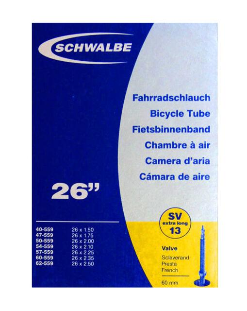 Schlauch Schwalbe Sv13 Presta 26  Innenschlauch Extra Lang 60mm