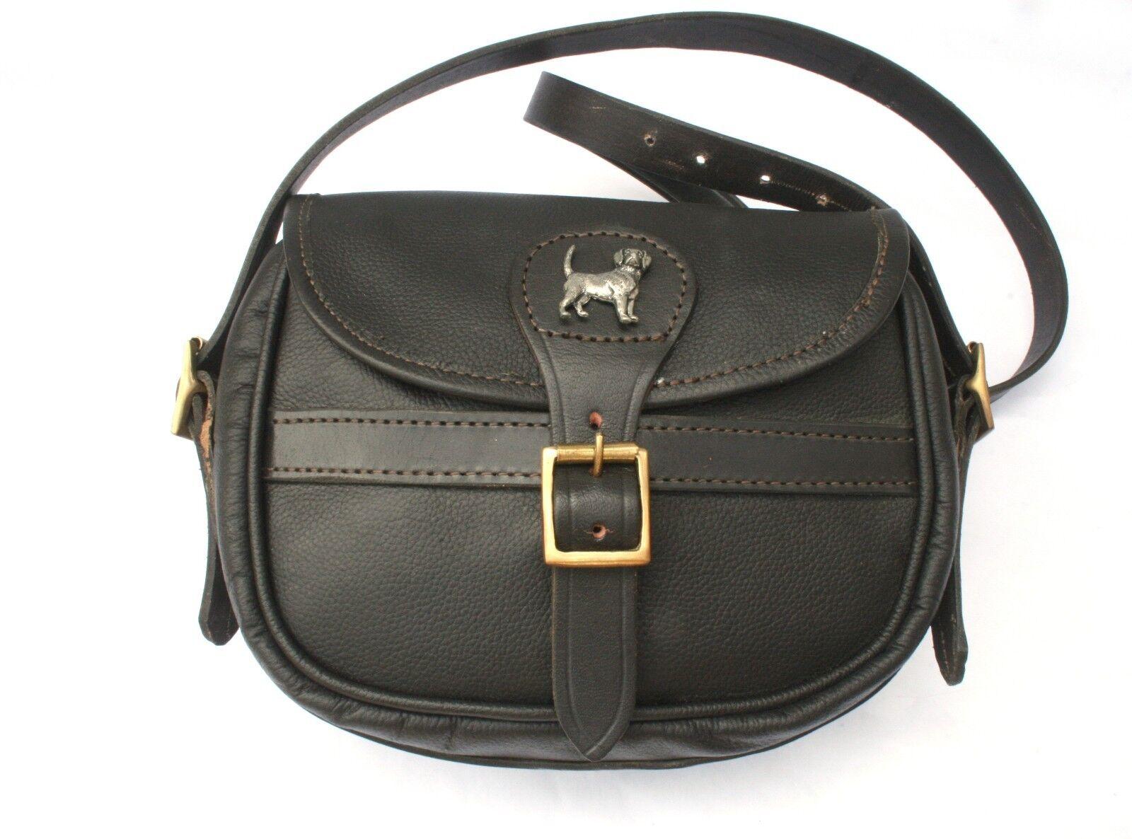 Beagle Dog Leather Shooting Cartridge Bag 75 Capacity Hunting Gift