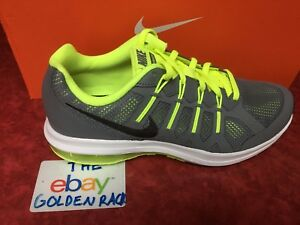 NIKE AIR MAX DYNASTY (GS) 820268 005 Cool Grey Volt White Black Size ... 3343a0498