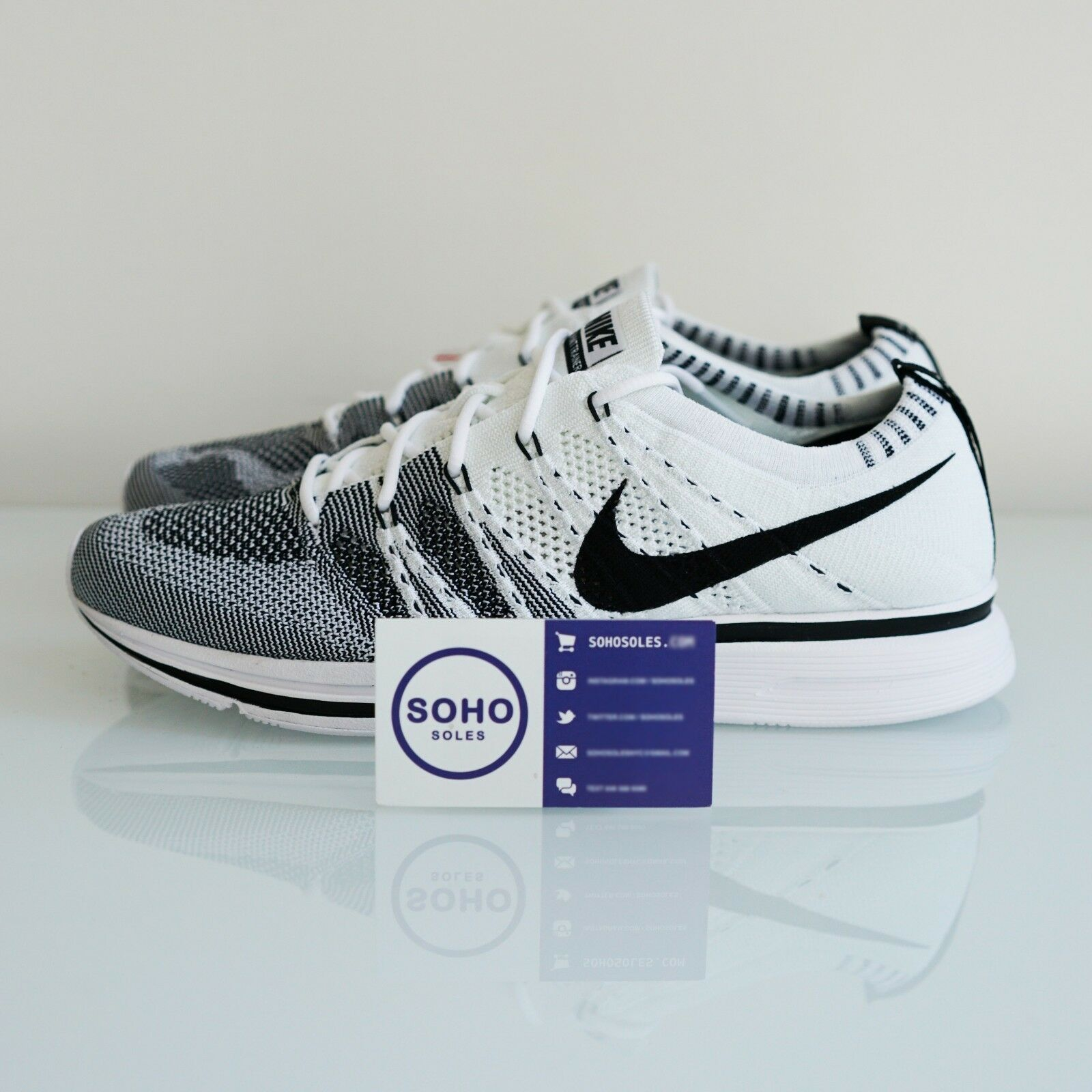 the latest 0be89 9fc2e Nike Nike Nike Flyknit Trainer og blanco negro ah8396 100 tamaño 7.5-15  Cookies Cream