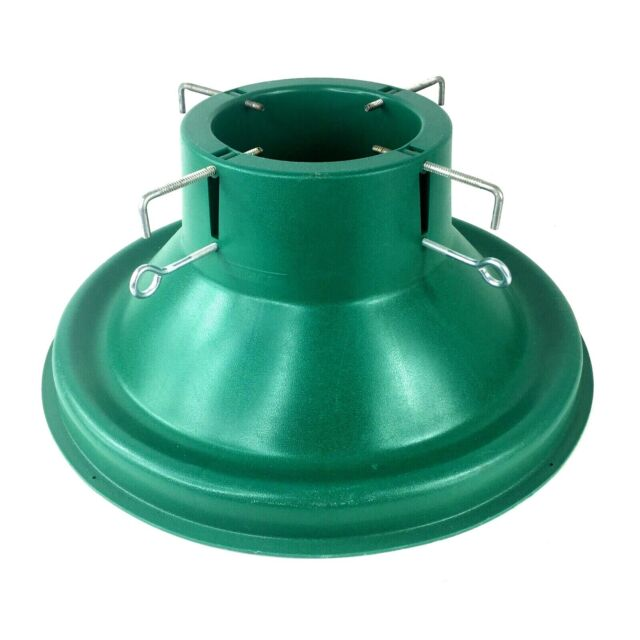 ULTIMATE CHRISTMAS TREE STAND Green Plastic 2 Level Screws ...