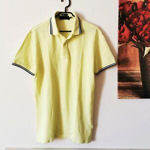 Fred-Perry-Herren-Poloshirt-Gr-44-112-cm-Slim-Fit-gelb