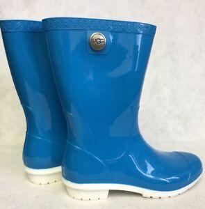 6bdacbb1436 Details about Ugg Australia Sienna Women's Boots Rain Rubber Boots Neon  Blue 1014452 sizes